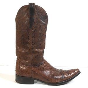 Old Gringo Men Snake Leather Cowboy Boots 11.5 D